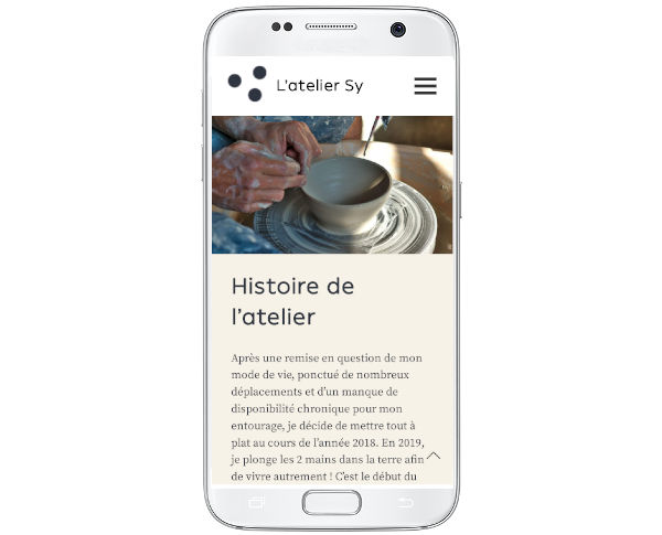 L'atelier Sy, version mobile