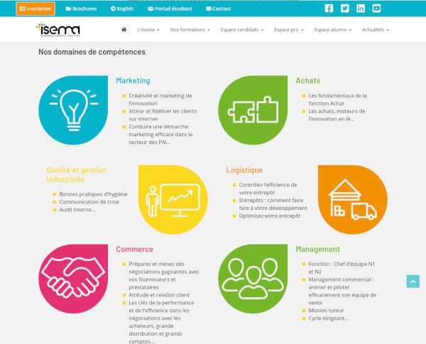 Isema, formation professionnelle